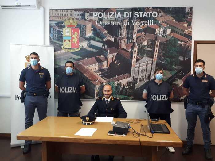 POLIZIA: OPERAZIONE ANTIDROGA A VERCELLI